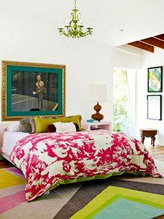 Bright Eclectic Bedroom