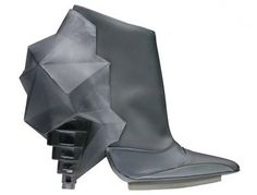 Grey Sculptural Ankle Boots. 2008 | #Balenciaga | #ankleboots | #NicolasGhesquiere