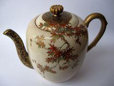 Japanese Satsuma Teapot by Seikozan