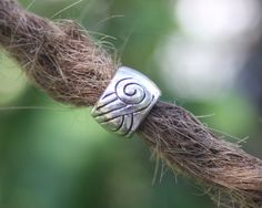 10 Tibetan Silver DREADLOCK BEADS 6mm Hole DREAD Hair by lyndar85, $8.00