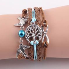 Tree birds pendant girl bracelet. Good for : Concert, Festival, Party, Nights out, Hangouts. Birds, tree , nature lovers bracelet, Teen fashion bracelet