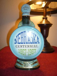 Vintage Jim Beam Decanter,,1967, The State Of Nebraska