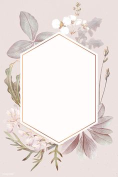 frame with bulltongue arrowhead vector Framed Wallpaper, Flower Background Wallpaper, Flower Backgrounds, Background Patterns, Wallpaper Backgrounds, Pink Glitter Background, Deco Floral, Arte Floral, Watercolor Wallpaper