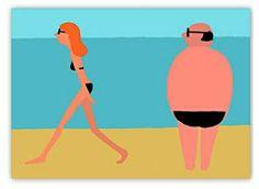 Minimalistic Illustrations Of Subtly Humorous Scenes On The Beach - DesignTAXI.com