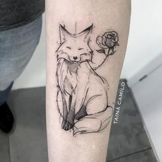 Omg adorable fox and rose tattoo # delightful # fox …. - tattoo tatuagem - Omg adorable fox and rose tattoo # delightful # fox …. – tattoo tatuagem Omg adorable fox and rose tattoo # delightful # fox . Tatoo Art, Tattoo Drawings, Body Art Tattoos, New Tattoos, Sleeve Tattoos, Deer Tattoo, Tatoos, Seagull Tattoo, Tattoo Forearm