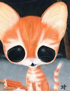 Sugar Fueled Cat Pity Kitty Orange Tabby Animal por Sugarfueledart
