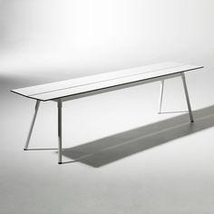 Ella Bänk 180cm, Vit, SMD Design