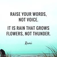 Raise your words ...