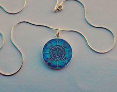 Cloisonne enamel pendant by Kokasart on Etsy