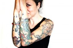 """Fashion Tattoos: Anna Sheffield...  """"I honestly haven't tallied my tattoos since I got over four or five…I tend to think of them more as collections than individual tattoos."""""""