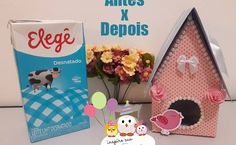 casinha-de-passarinho-passo-a-passo-inspire-sua-festa141 Tetra Pack, Bird Party, Clay Pots, Decoration, Needle Felting, Toy Chest, Diy And Crafts, Projects To Try, Scrapbooking