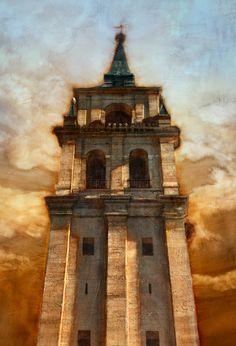 Dibujo de la torre de la Magistral University Of San Diego, Kingdom Come, Assemblage Art, Logo Inspiration, Murals, Madrid, Gothic, Sculptures, December