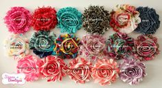 Pick 5 Choose Colour Shabby headband baby girl by SiennaBowtique, £14.00