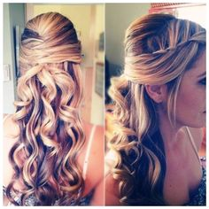 Simple Wedding Hairstyles for Bridesmaids Long Hair