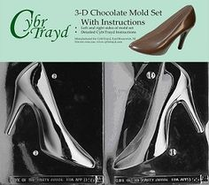 Cybrtrayd High Heel Shoe Chocolate Candy Mold Bundle with 2 Molds and Exclusive Cybrtrayd Copyrighted Chocolate Molding Instructions * Find out more about the great product at the image link. (This is an affiliate link) Cake Topper Tutorial, Cake Toppers, Candy Making Supplies, Shoe Molding, Chocolate Candy Molds, Chocolate Shop, High Heels, Shoes Heels, How To Make Chocolate