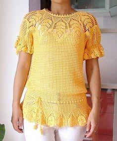blusas tejidas a gancho de moda - Buscar con Google