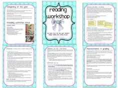 Great Free Download on the Prep and Structure of Lucy Calkin's Reading Workshop