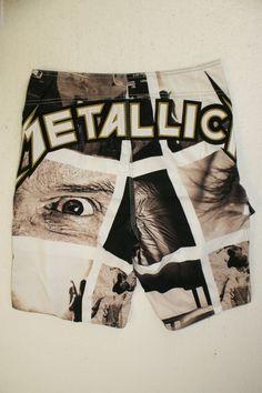 dbda16165f Billabong Surf Boardshorts Rare Metallica Limited Edition Swim Trunks Mens  31 | eBay