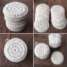Kestovanulappupostaus nyt blogissa, myös virkkausohje #ekoteko #kestäväkehitys #sustainabledevelopment #punossidossilmukka #käsityöblogit #instavirkkaajat #instacrochet #virkattu #virkkaus #crochet #cottonpad #crocheting #vanulappu #kestovanulappu Yarn Crafts, Diy And Crafts, Arts And Crafts, Crochet Home, Diy Crochet, Diy Presents, Diy Gifts, Home Made Soap, Crochet Fashion