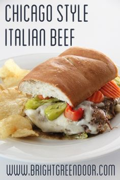 This Chicago Style Italian Beef is an easy and delicious crockpot meal that can rival any Chicago restaurant!