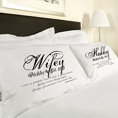 "King Size ""Corinthians"" Love Is Patient Love Is Kind Couples Pillowcases Personalized Romantic Gifts, Anniversary, Engagement, Wedding, Valentines Day or Christmas Romantic"