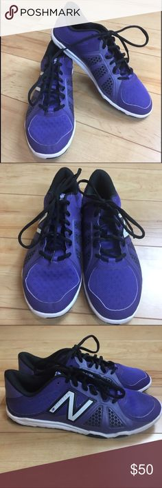 NWOT New Balance Purple Athletic Sneakers 9.5 NWOT New Balance sneakers. Purple. White soles. Black shoelaces. Only worn to try on, clear barb still attached. Box not included. Faded sharpie on the bottom, see last picture. Size 9.5 New Balance Shoes Sneakers