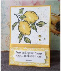 """Card Lemons, Karte """"Zitronen"""""""