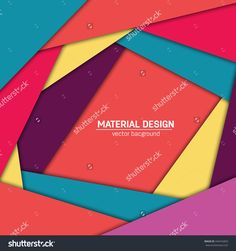 Vector Material Design Background. Abstract Creative Concept Layout Template…