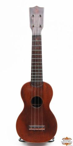This is an exceptionally clean and early Martin soprano with all mahogany body and friction tuners (one is replaced). These early Martins with bar frets are among the best sounding of the soprano ukuleles.Includes the original end loading canvas case.