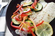 Baked tilapia and veggies