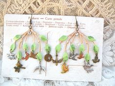 spring bird earrings charm chandelier woodland by lilyofthevally