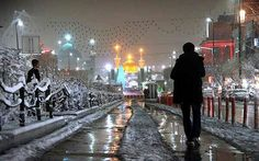 snow in the holy land of karbala Imam Reza, Imam Hussain, Hello My Love, Islamic Pictures, Great Shots, In A Heartbeat, Iran, Prayer Board, Mosques