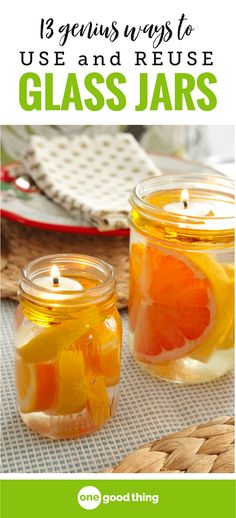 If you have a borderline excessive collection of glass jars like I do, you're in luck! Today I'm sharing 13 genius ways to put those glass jars to good use. You won't believe just how useful a glass jar can be! #reuse #recycle #glassjars