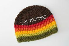 Infant Crochet 0-3 months Hat Baby BeanieFall by ZawiHatsAndMore