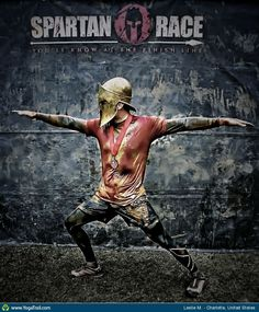 """Anywhere #Yoga Contest - win an iPhone 5: """"Fitting pose for the end of a Spartan Race..."""""""