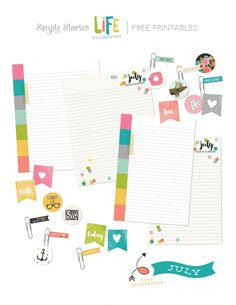 Free July Planner Printables from Simple Stories