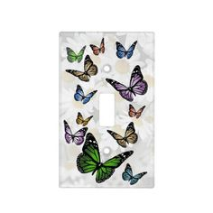 Delightful Butterfly and Daisy Light Switch Cover Light Switch Plates