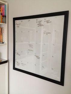 DIY Glass Write-on Calendar