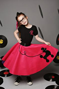 Every girl should have a poodle skirt at least once in her life. Whether its a classic baby pink or modern hot pink your daughter is sure to love her poodle skirt!  My items are personally handmade by Me from start to finish. I put alot of time and attention to every detail to ensure your poodle skirt will last for years to come!  The Ultimate poodle skirt for your next Sock Hop,made 50s fancy youll be the envy of every girl for sure! Its all in the details: Fabric:Quality felt **Please keep…