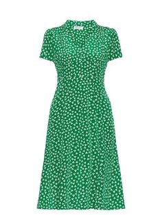 Morgan floral-print short-sleeved dress   HVN   MATCHESFASHION.COM US