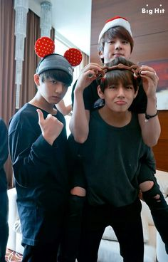 bts-- this is the cutest picture I've ever seen of jin v and jungkook