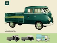 VW typ 265 Doppelkabine 1958