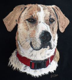 Earlier this year I visited Norfolk Island and met some interesting dogs. This is Charlie. Thread Art, Thread Painting, Norfolk Island, Embroidery, Dogs, Animals, Needlepoint, Animales, Animaux