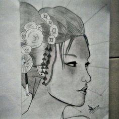 #Sketch #Geisha