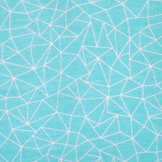 Coupon tissu 50x70 cm - toile bleue  - Geometric Pastel