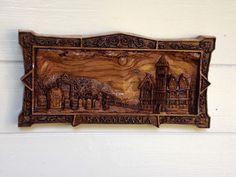 WOOD WALL ART Holidays, Hotel Transylvania, Halloween Wall Decor, Gothic Wood Carving, Vampire Art, Transylvania Rip Cemetery Wall Hanging