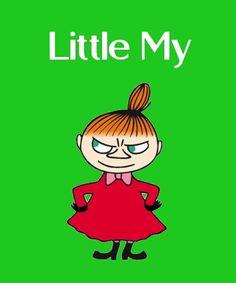 Little My (Swedish: Lilla My , Finnish: Pikku Myy ) Little My is a little firecracker. Little My Moomin, Tove Jansson, Moomin Mugs, Moomin Valley, Tatty Teddy, Wall Collage, My Images, Troll, Cartoon