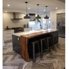 American kitchens with interconnecting rooms: 85 incredible projects to check - Home Fashion Trend Kitchen Room Design, Modern Kitchen Design, Kitchen Layout, Home Decor Kitchen, Interior Design Kitchen, Home Kitchens, Kitchen Ideas, Open Plan Kitchen, New Kitchen