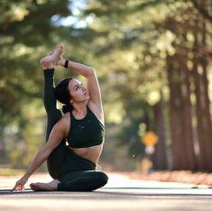 @gabriella.dondero in the #AloYoga Ripped Warrior Bra #yoga #inspiration #yogainspiration