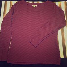 New York and company cranberry sweater New York and company cranberry women's sweater  great condition New York & Company Sweaters Crew & Scoop Necks